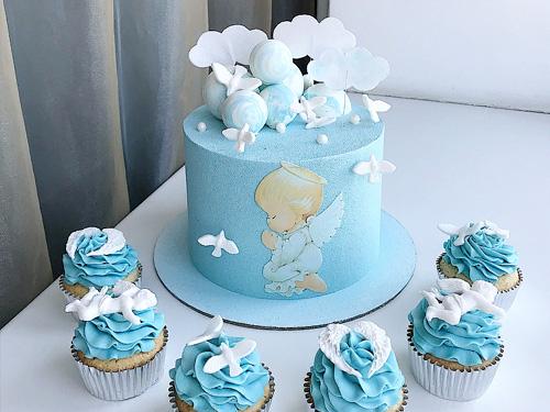 Бисквитный тортик на день рождение мальчика