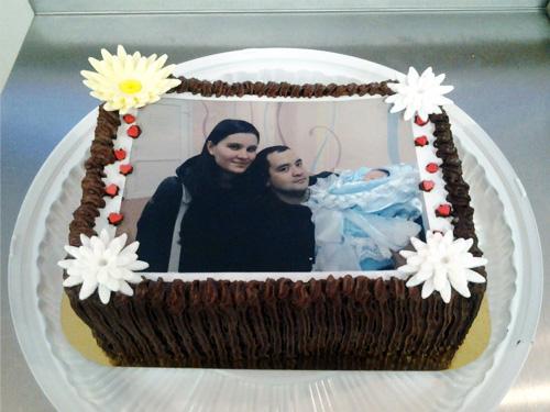 Торт на заказ с фотографией семейной пары