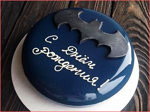 Муссовый торт мужчине на день рождение, бэтмен