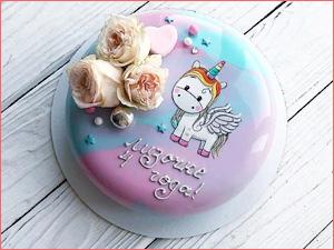 Муссовый детский тортик для девочки