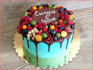 Детский торт для ребенка из ягод