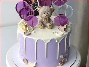 Красивый торт на день рождение ребенку с мишками
