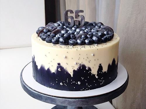 Торт ягодный на 65 лет папе