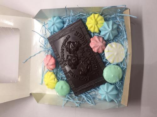 Шоколадная плитка с зефиром